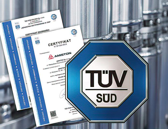 Amiston - jakość certyfikaty TÜV SÜD